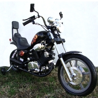 Kids Super Upgrade Painted Electric Power Ride on Motorcycle Harley Style Wheels