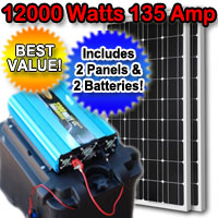 Solar Powered Generator 135 Amp 12000 Watt Solar Generator Just Plug and Play - NOT A KIT