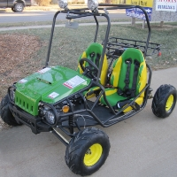 125cc Wrangler Green Deer Rider Edition Go Kart