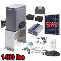 Solar Kit Sliding Gate Opener For Sliding Gates Up to 40-Feet Long and 1400-Pounds