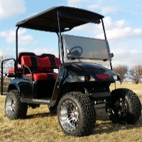 36v PDS Black Body Golf Cart w/Speed Chip