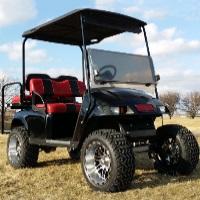 36v PDS Black Body Golf Cart w/Speed Chip