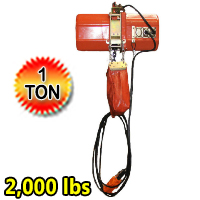 Electric Chain Hoist 2000 lb. Electric Crane Hoist HD Super 2000 1 Ton 20ft Lift
