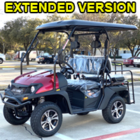 Gas Golf Cart UTV Hybrid Linhai Big Horn 200 GVX Side by Side UTV With Custom Rims/Tires & Extended Version - With Extended Roof