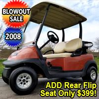 2008 48v Electric Club Car Precedent Golf Cart Cayenne Orange - Just Off The Course