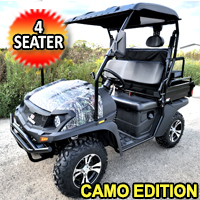 200cc Hunting UTV Gas Golf Cart VX With Real Flip Seat Contender Camo Edition