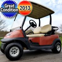 2013 48v Electric Club Car Precedent Golf Cart Cayenne Orange - Excellent Condition