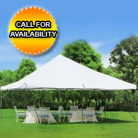 High Quality White 20' x 20' Commercial Grade Party Tent With Mosquito Netting
