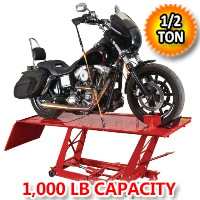 Motorcycle Lift 1000 LB (1/2 Ton) Capacity Lift ATV Lift Bike Stand Jack Table