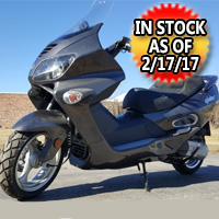 2013 - 250cc Glider Scout 4 Stroke Moped Scooter with 22 Miles & Radio