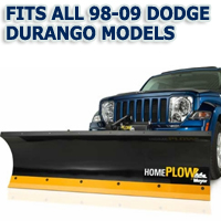 Fits All Dodge Durango 98-09 Models - Meyer Home Plow Hydraulically-Powered Lift w/Both Wireless & Wired Controllers - Auto-Angle Snow Plow