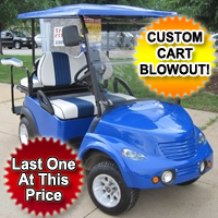 48v Electric PT Cruiser Custom Club Car Golf Cart - Blue
