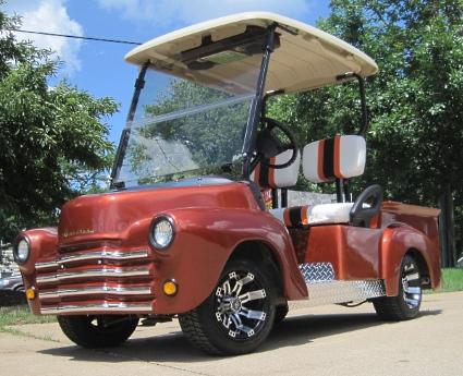 47 Old Truck 48v Electric Custom Club Car Golf Cart