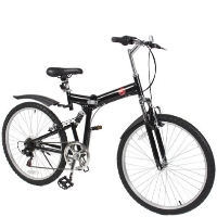 "High Quality Blue 26"" Inch Blue and Black 6 Speed Folding Mountain Bicycle"