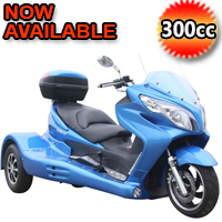 300cc Zodiac Automatic 4 Stroke Trike Moped Scooter