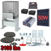Solar Kit Sliding Gate Opener For Sliding Gates Up to 40-Feet Long and 3100-Pounds