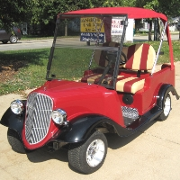 '34 Old Roadster Car 48v Custom Club Car Golf Cart