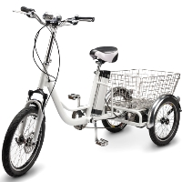 350 Watt Electric Powered Tricycle Motorized 3 Wheel Trike Scooter Bicycle