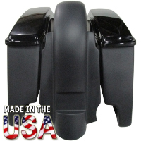"""Harley Davidson 6"""" Stretched Extended Saddlebags w/Lid & Fender - Harley Touring Models 1997 - 2008"""