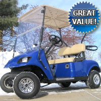 36V EZGO Golf Cart w/ Regal Body - Light Kit & SS Wheel Covers