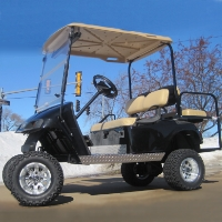 EZ-GO Lifted Black 36 Volt Electric Golf Cart
