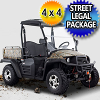 400cc Outfitter 4x4 UTV Utility Vehicle w/ Light Kit