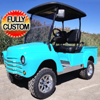 47' Old Truck 48v Electric Custom Club Car Golf Cart