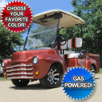 47' Old Truck Custom EZ-GO Gas Golf Cart