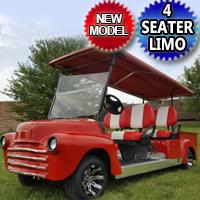 '47 Old Truck Golf Cart 4 Seater 48v Electric Custom Stretch Limo Precedent Club Car