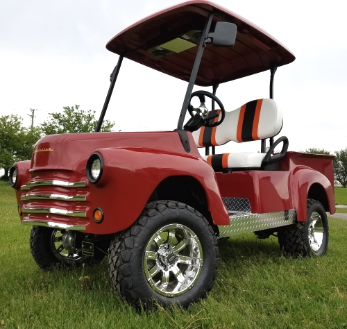 Lifted 47 Old Truck Custom Golf Cart Club Car Precedent With Lift Kit