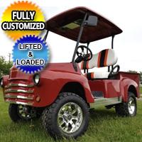 Lifted 47' Old Truck Custom Golf Cart Club Car Precedent With Lift Kit & Custom Rims, Radio & Street Legal Package