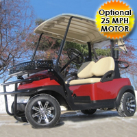 48V Club Car Precedent Golf Cart w/ Utility Basket & Brushguard