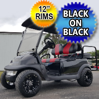 48V Black on Black Custom Golf Cart Electric Club Car Precedent