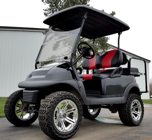 Viper Blue Club Car Precedent With Matching Seats likewise Gsi 48vblackliftedclubcar as well 541 Harshbargers Sub N Malt Mcveytown Port Royal Pa also Pure Primitive Craziness Spartan Obstacle Racing additionally Gar  Club Car Precedent. on classic black lifted club car precedent golf cart