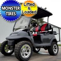 48 Volt Custom Lifted Club Car Precedent Golf Cart - Black