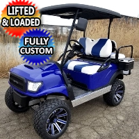 48v Electric Golf Cart Alpha Body Club Car Precedent With Custom Rims/Tires Radio & LED Lights
