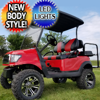 48v Electric Golf Cart Alpha Edition Club Car Precedent With Custom Rims/Tires Seats W/LED Lights