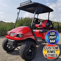 Custom Club Car Golf Cart 48v Electric Lifted With Phantom Body Flip Seat Rims LED Light Bar
