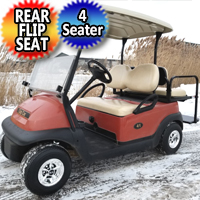 48v Electric Club Car Precedent Golf Cart With Rear Flip Seat Windshield & SS Wheel Covers