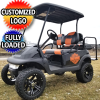 Fully Customized 48v Electric Club Car Precedent Golf Cart With Upgraded Seats & Rims