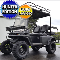 48v Electric EZ-GO TXT Black Hunter Edition Golf Cart