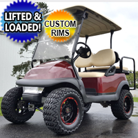 48v Club Car Precedent Golf Cart W/ Custom Rims, Rear Flip Seat & Radio