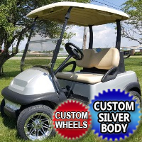 Silver Bullet 48V Club Car Precedent Golf Cart - w/ Custom Wheels