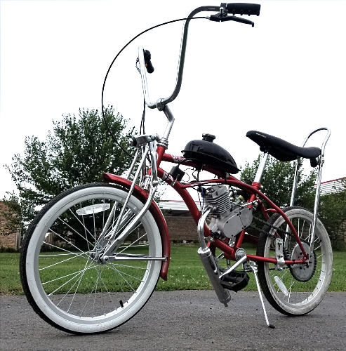 49cc Motorized Lowrider Bike Gas Powered Motor Bicycle
