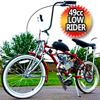 49cc Motorized Lowrider Bike Gas Powered Motor Bicycle