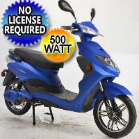 500 Watt Speedster Electric Moped Boom Scooter w/ Pedals