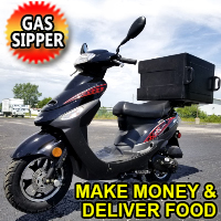 50cc Food Dash Scooter Moped With 49cc Motor Pizza Delivery