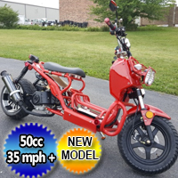 "Brand New 50cc Rake Rod Bike Scooter Moped Bicycle w/ Large 12"" Rims - 50QT-3A"