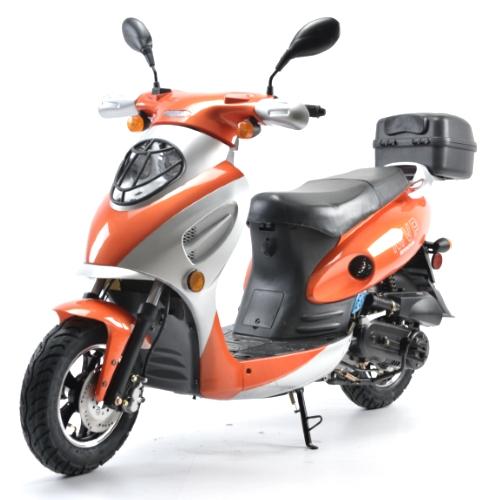 brand new 50cc mvp tangerine boom moped scooter. Black Bedroom Furniture Sets. Home Design Ideas