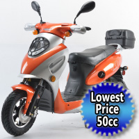 Brand New 50cc MVP Tangerine Boom Moped Scooter